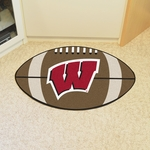 University of Wisconsin Team Logo Football Mat 22'' x 35'' [1647-FS-FAN]