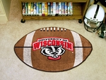 University of Wisconsin Team Mascot Football Mat 22'' x 35'' [5124-FS-FAN]