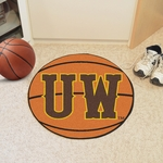 University of Wyoming Team Logo Basketball Mat 27'' Diameter [4934-FS-FAN]