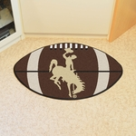 University of Wyoming Team Mascot Football Mat 22'' x 35'' [1576-FS-FAN]