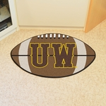 University of Wyoming Team Logo Football Mat 22'' x 35'' [4933-FS-FAN]