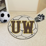 University of Wyoming Team Logo Soccer Ball Mat 27'' Diameter [4936-FS-FAN]