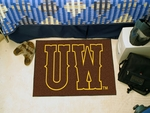 University of Wyoming Team Logo Starter Mat 19'' x 30'' [4937-FS-FAN]