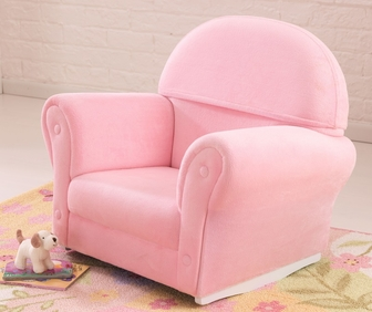 Kids Upholstered Rocker with Slipcover - Pink, 18611 by KidKraft ...