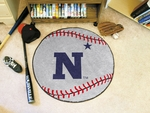 US Naval Academy Baseball Mat 27'' Diameter [3538-FS-FAN]