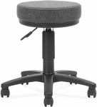 Adjustable Height UtiliStool with Stain Resistant Fabric - Dark Gray [902-131A-FS-MFO]
