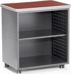 Mobile 27.50'' W x 19.75'' D Utility Table with Shelf - Cherry [66745-CHY-FS-MFO]