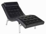 Valencia-1 Lounge Chair in Black [04061-FS-ERS]