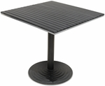 Nevada 24'' x 24'' Table Top with Valencia Table Base - Black [SC-1401-588-SC-2401-402-NEV-BLK-SCON]