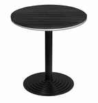 Nevada 28'' Round Black Durawood Table Top with Valencia Round Dining Table Base - Black [SC-1401-588-SC-2401-422-BLACK-SCON]