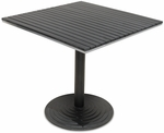 Nevada 32'' x 32'' Table Top with Valencia Table Base - Black [SC-1401-588-SC-2401-405-NEV-BLK-SCON]