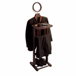 Valet Stand with Mirror and Open Base [92055-FS-WWT]