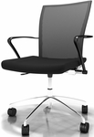 Valore Height Adjustable Task Chair with Black Fabric Seat- Black Mesh Back [TSH3BB-FS-MAY]