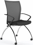 Valore High-Back Training Chair with Black Fabric Seat - Set of Two - Black Mesh Back [TSH1BB-FS-MAY]