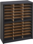 Value Sorter® Thirty-Six Compartment Literature Sorter and Organizer - Black [7121BL-FS-SAF]