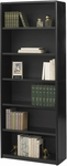 ValueMate® 80'' H Economy Six Shelf Bookcase - Black [7174BL-FS-SAF]