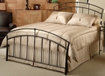 Vancouver Powder Coated Metal Bed Set with Rails - Full - Antique Brown [1024BFR-FS-HILL]
