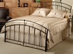 Vancouver Powder Coated Metal Bed Set with Rails - Queen - Antique Brown [1024BQR-FS-HILL]