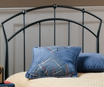 Vancouver Powder Coated Metal Headboard with Rails - Twin - Antique Brown [1024HTWR-FS-HILL]