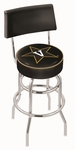 Vanderbilt University 25'' Chrome Finish Swivel Counter Height Stool with Double Ring Base [L7C425VANDER-FS-HOB]