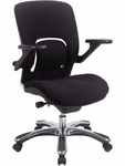 Vapor Mid-Back Executive Black Fabric Chair [FE22VAP-BLACK-FS-EURO]