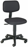 Adjustable Height Varsity Task Chair - Black [CH112-FS-ALV]