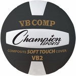 VB Pro Comp Official Size and Weight Volleyball in Black and White [VB2BK-FS-CHS]