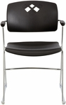 Veer™ 21.25'' W x 22'' D x 32.5'' H Flex Frame Stack Chair - Set of Four - Black [4286BL-SAF]