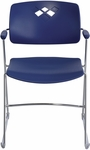 Veer™ 21.25'' W x 22'' D x 32.5'' H Flex Frame Stack Chair - Set of Four - Blue [4286BU-SAF]