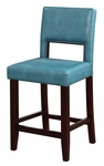 Vega 24''H Counter Stool - Agean Blue [14053BLU01U-FS-LIN]