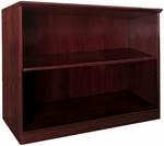 Napoli and Corsica 2 Shelf Bookcase - Mahogany [VB2MAH-FS-MAY]