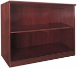 Napoli and Corsica 2 Shelf Bookcase - Sierra Cherry [VB2CRY-FS-MAY]
