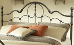 Venetian Classic Metal Headboard with Rails - Full or Queen - Old Bronze [1480HFQR-FS-HILL]