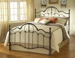Venetian Classic Metal Bed Set with Rails - King - Old Bronze [1480BKR-FS-HILL]