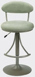 Venus Height Adjustable Bar Stool with Atmosphere Microfiber Swivel Seat - Champagne [4210-826H-FS-HILL]