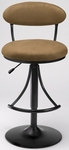 Venus Height Adjustable Bar Stool with Bear Microfiber Swivel Seat - Black [4210-831H-FS-HILL]