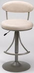 Venus Height Adjustable Bar Stool with Fawn Microfiber Swivel Seat - Champagne [4210-827H-FS-HILL]