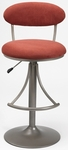 Venus Height Adjustable Bar Stool with Flame Microfiber Swivel Seat - Champagne [4210-825H-FS-HILL]