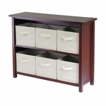 Verona 2-Tier Wide Shelf with Beige Baskets [94891-FS-WWT]