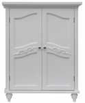 Versailles Floor Cabinet with 2 Doors in White [ELG-550-FS-EHF]