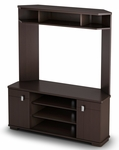 Vertex Collection Corner TV Unit Chocolate [4269629-FS-SS]