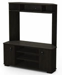 Vertex Collection Corner TV Unit Ebony [4277629-FS-SS]