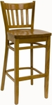 Vertical Back Solid Wood Barstool [900-BS-SWS-SAT]