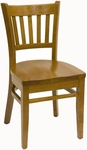 Vertical Back Solid Wood Dining Chair [900-SWS-SAT]