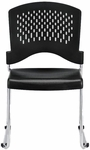 Aire S4000 18'' W x 23'' D x 34'' H Vertical Perforated Back Plastic Stack Side Chair - Set of Four - Black [S4000-BLACK-FS-EURO]