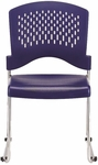 Aire S4000 18'' W x 23'' D x 34'' H Vertical Perforated Back Plastic Stack Side Chair - Set of Four - Navy Blue [S4000-NAVY-FS-EURO]