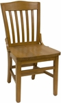 Vertical Slat Back Solid Wood Side Chair - Cherry Finish [930-SWS-C-SAT]