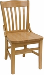 Vertical Slat Back Solid Wood Side Chair - Natural Finish [930-SWS-N-SAT]