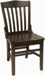 Vertical Slat Back Solid Wood Side Chair - Walnut Finish [930-SWS-W-SAT]