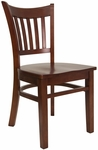 Vertical Slat Chair with Mahogany Finish [8242-M-M-HND]